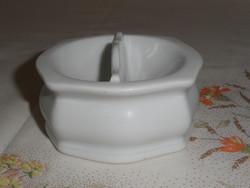 Antik, régi fehér porcelán sótartó, fűszertartó