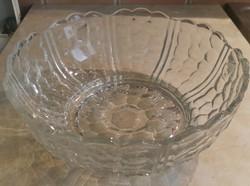 Gyönyörű antik üvegtál  üveg kínáló tál