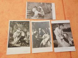 Fekete-fehér antik képeslapok