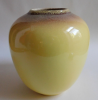 Gránit sárga váza - mid century