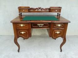 Beautiful restored antique superstructure baroque desk circa 1870.