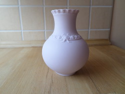 Hutschenreuther Bavaria biszkvit porcelán kis váza