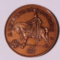 MÉE Budapest Honfoglalás bronz érem 1996