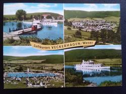 Luftkurort Veckerhagen, Weser Postatiszta Képeslap
