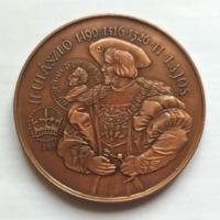 MÉE Székesfehérvár  II Ulászló-II Lajos bronz - EMLÉKÉREM