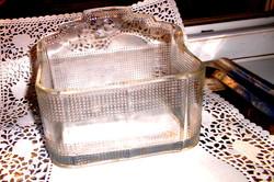 Antik  üveg  fali sótartó