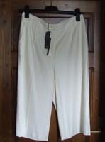 Vadonatúj, sosem hordott, 40-es méretű, címkés Marks & Spencer világos női nyári nadrág, térdnadrág