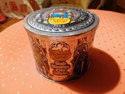 Dombormintás nürnbergi kekszes doboz nagyon szép állapotban
