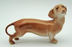 B738 Porcelán tacskó kutya - szép, hibátlan állapotban