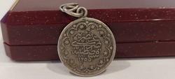 Ottoman Sultan Reshat ezüst érme medál