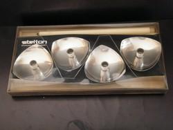 Stelton dán design 4 db-os fém gyertyatartó készlet