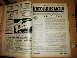 Újság gyűjtemény-Katolikus Akció 1935 Már. - 1941 Dec.-ig.