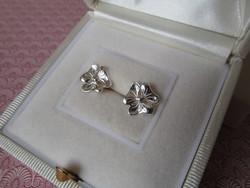 Virág alakú ezüst fülbevaló - stekker - új ékszer