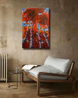 Vörös Edit: Nyírfák Modern Abstract 60x40cm