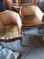 Antik Warrings 2 darab ratán fotel