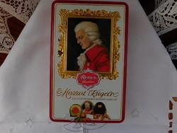 Gyűjteményből való díszdoboz, festett, hibátlan, Mozart Kugeln