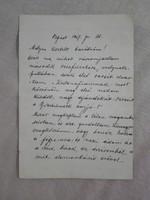 Jászai Mari - az egyik  legjobb Shakespeare tragika - autográf levele Várnai Zseni, József Attila