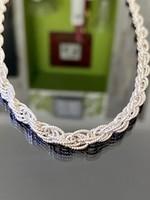 Különleges, ragyogó ezüst nyaklánc
