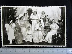 BÉKEIDŐ KARÁCSONY ANGYAL CSOPORTKÉP FOTÓ FÉNYKÉP cca. 1928