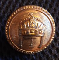 6 db magyar korona mintás gomb, pityke