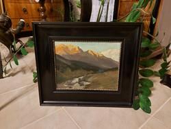 Katona Nándor Tátrai táj festménye!