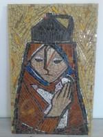 Fónyi Friml Géza (1899 - 1971) - nagyméretű mozaik - jelzett.
