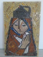 Kiárusítás! Fónyi Friml Géza (1899 - 1971) - nagyméretű mozaik - jelzett.
