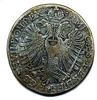 Ezüst Augsburg (Reichsstadt) Tallér 1629 hatalmas 42mm,28.7g R! (ingyen posta)