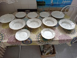 Mákvirágos Zsolnay tányérok, étkészlet