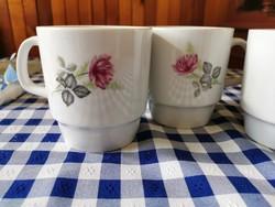 Alföldi porcelán őszirózsa virág mintás bögre