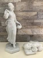 10 Ft-ról! Zsolnay fehér porcelán szobrok!