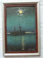 Hajókat ábrázoló festmény