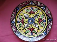 SALJO-CRESPO vintage spanyol kézműves fali tányér