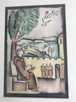 Akvarell Szent Ferenc