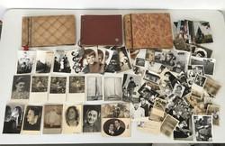 Régi fotó fénykép gyűjtemény + 3 db fotóalbum