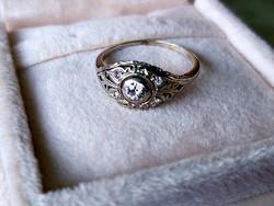 Antik feherarany gyűrű/brill