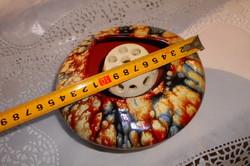 Retro kerámia ikebana  tál -szép folyatott mázzal