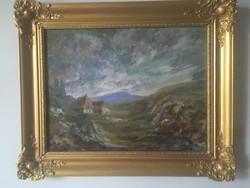 Antik festmény számomra ismeretlen szignóval .