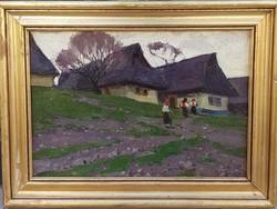Andaházi Kasnya Béla (1888-1960) : Falurészlet