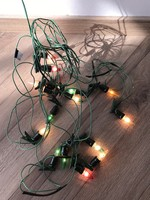 Régi karácsonyfa égősor izzósor fényfüzér karácsonyi égősor