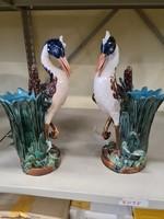 Majolika váza pár
