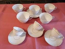 Zsolnay tollazott kávés, teás csészék