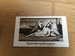 Kegyelemteljes húsvéti ünnepeket üdvözlőlap  - 40 -es évekből képeslap