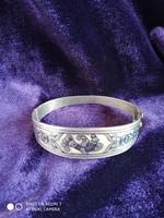 Ezüst niellós 925-ös orosz női karperec (Tula ezüst)