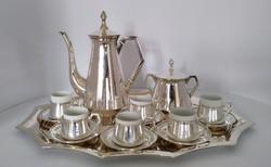 Ezüst art-deco kávéskészlet