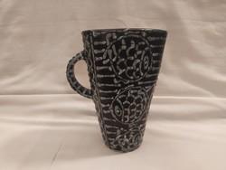 Szép hibátlan Gorka art-deco halas váza