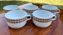Alföldi retro csésze uniset barna mintával teás bögre