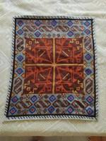 Régi 67x53 cm-es hátán bélelt hibátlan textil falvédő