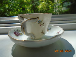 """Antik a Meisseni porcelánok forma és minta világáva kávés csésze tálkával """"Modell Bristol""""jelzéssel"""