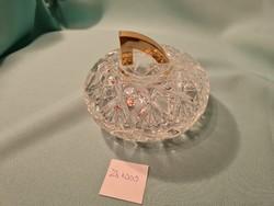 Üveg bonbonier 13x6 cm